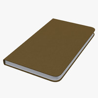 3d leather desk journal model