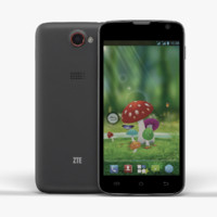 smartphone zte leo s1 3d model