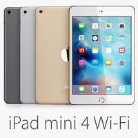 3d model ipad mini 4 wi-fi