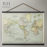 vintage world tapestry 3d model