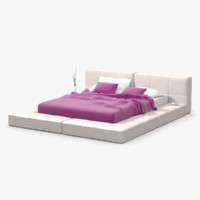 platform bed soft 3d max