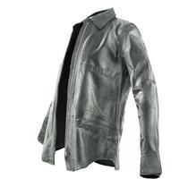 3d black leather shirt