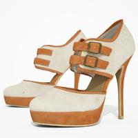 heel shoe obj