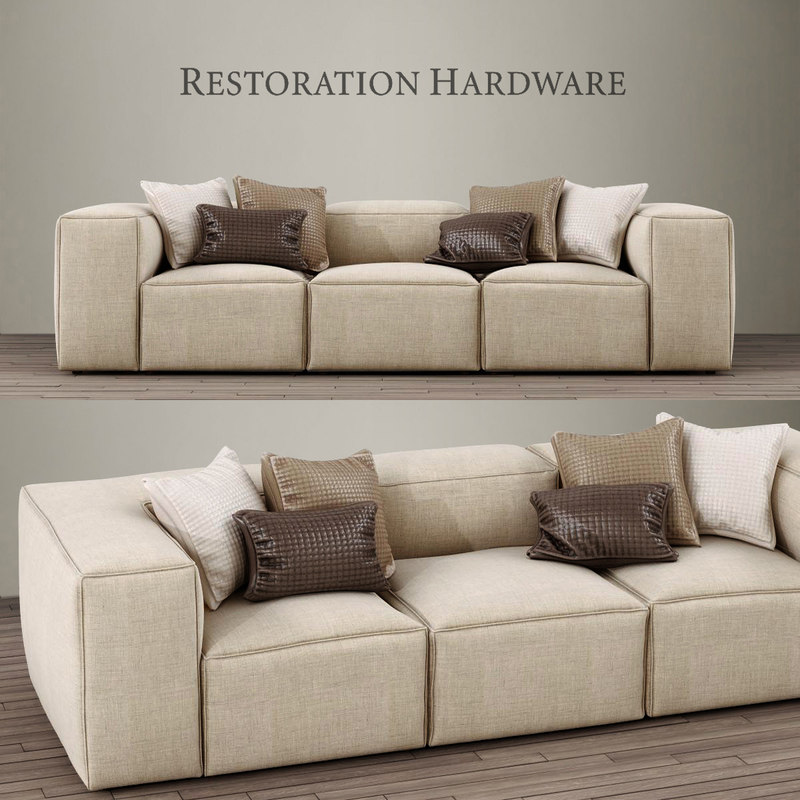 3d Fulham Upholstered Left Arm Sofa Chaise