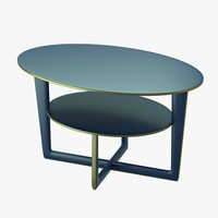 3d model modern table levels