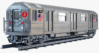 new york r62 subway train 3d obj