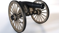 cannon field 3d model