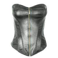 black leather corset obj