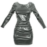 3d model black shiny dress
