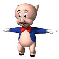3d porky character model