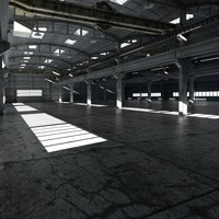 3d model of factory interior
