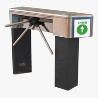 3d tripod turnstile model