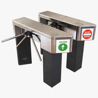 c4d tripod turnstile set