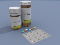 pill bottles 3d 3ds