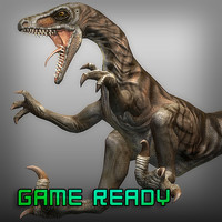 velociraptor raptor 3d obj