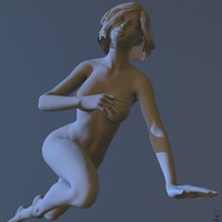 zbrush posed female 3d model