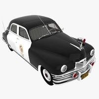 3d packard 1948 police model