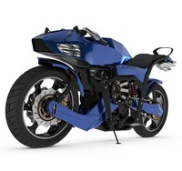 futuristic motorcycle c4d