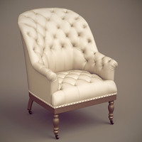 3ds max valette upholstered chair