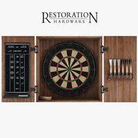 3d model dartboard darts