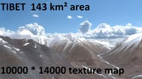 tibetan mountain landscape 3d ma