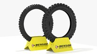dunlop geomax mx52 tires 3d model