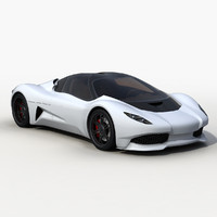 3d model of anaconda supercar sports car