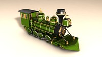 3ds max locomotive