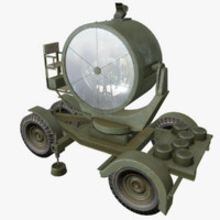 3d searchlight asset polys
