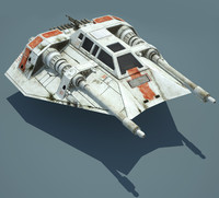 star wars snowspeeder ready 3d model