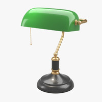 bankers lamp 3d ma