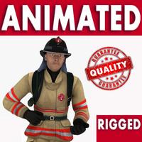 human fireman 3d model