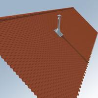 Roof, Chimney, Tile