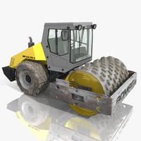 3d bomag road roller model
