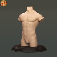 modeled body male obj
