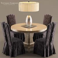 3d max chair table vittorio