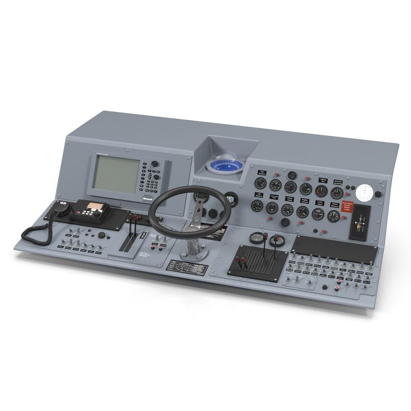 3d model of Military Boat Control Panel 01.jpg