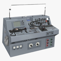 3d military boat control panel model