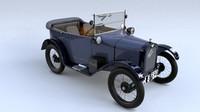 austin seven chummy 1927 3d model