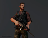 3dsmax gameready mercenary