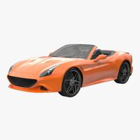 3d model generic sport roadster