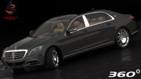 mercedes-benz maybach s600 2015 3d model
