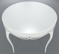 3d harper white table 76-0125 model