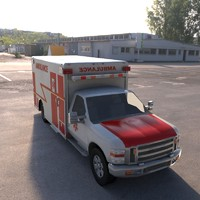 semi truck ambulance 3d 3ds