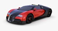 3d mid-poly bugatti veyron 16
