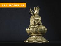 3d model buddha gold sculpture