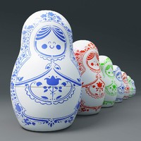 matryoshka nesting dolls 3d model