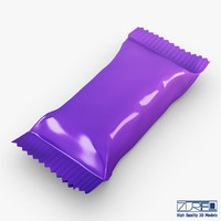 candy wrapper v 5 3d model