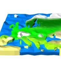 europe landscape land 3d model