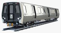 wmata 7000 metro train 3d model
